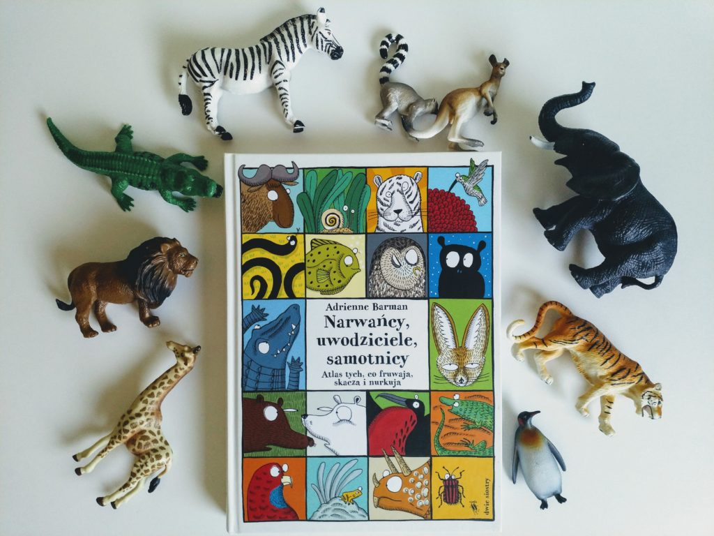 Narwańcy, uwodziciele, samotnicy. Atlas tych, co fruwają, skaczą i nurkują - Książki dla dzieci ciekawych świata
