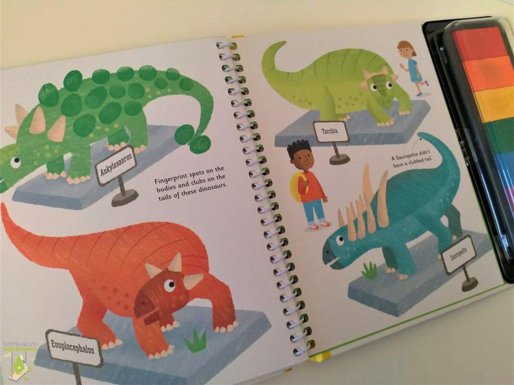 Fingerprint activities. Dinosaurs