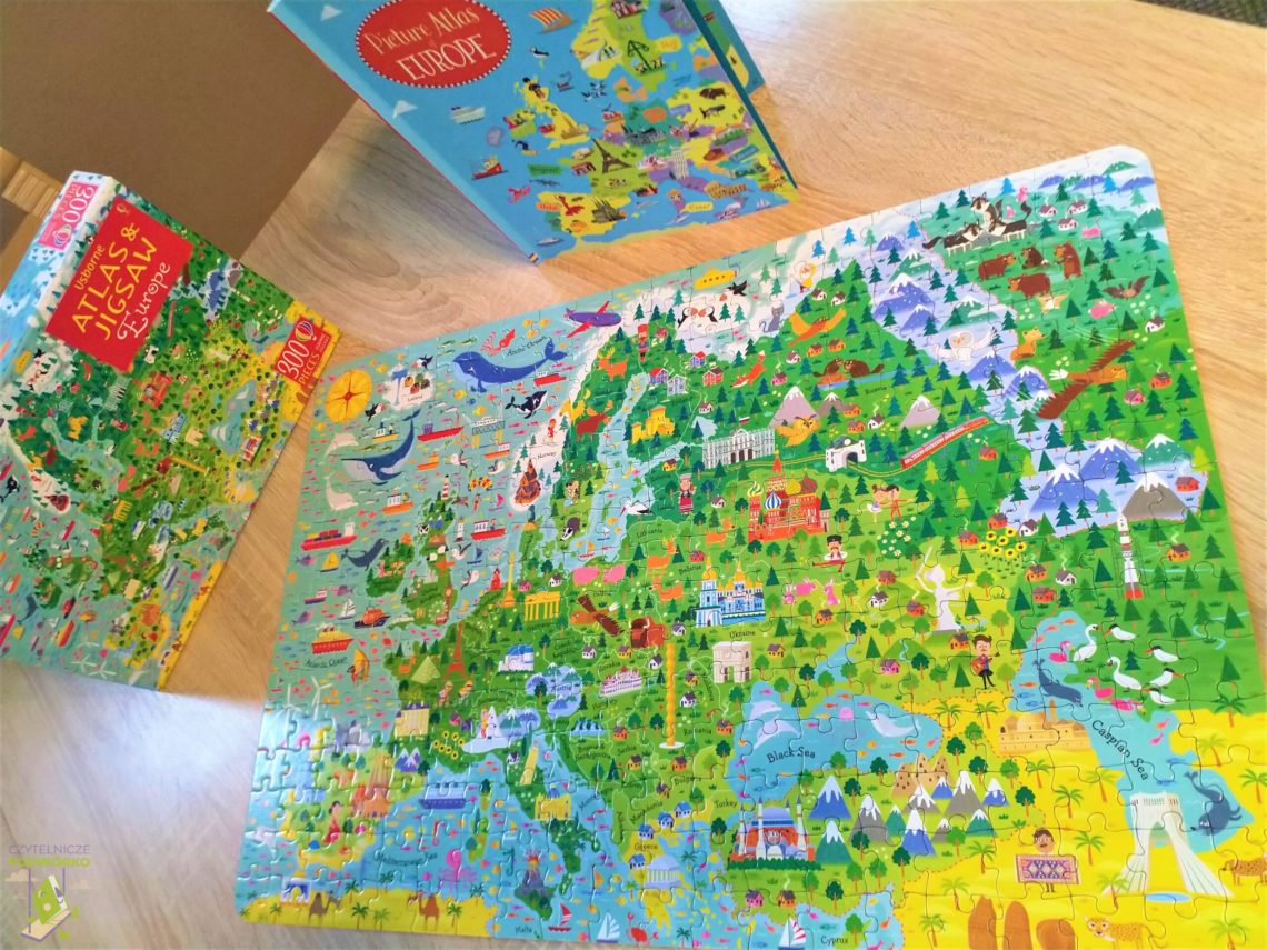 Europe. Usborne Atlas and Jigsaw